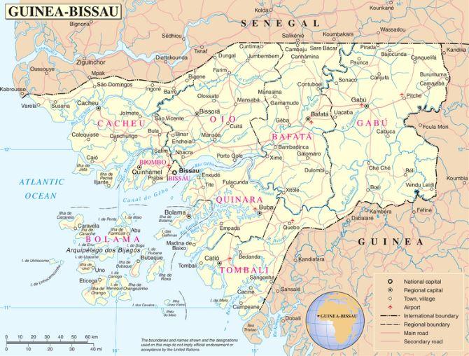 Guinea Cartina Geografica.Cartina Geografica Mappa Guinea Bissau