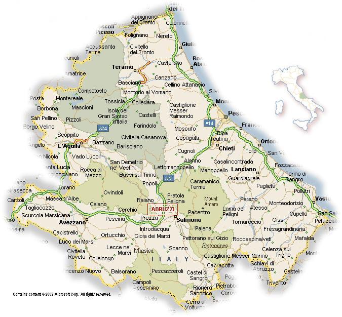 Cartina Regione Abruzzo Pieterduisenberg