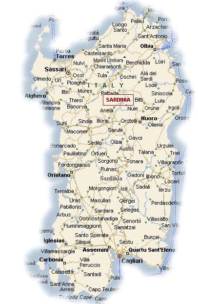 Cartina Geografica Della Regione Sardegna Mappa O Carta