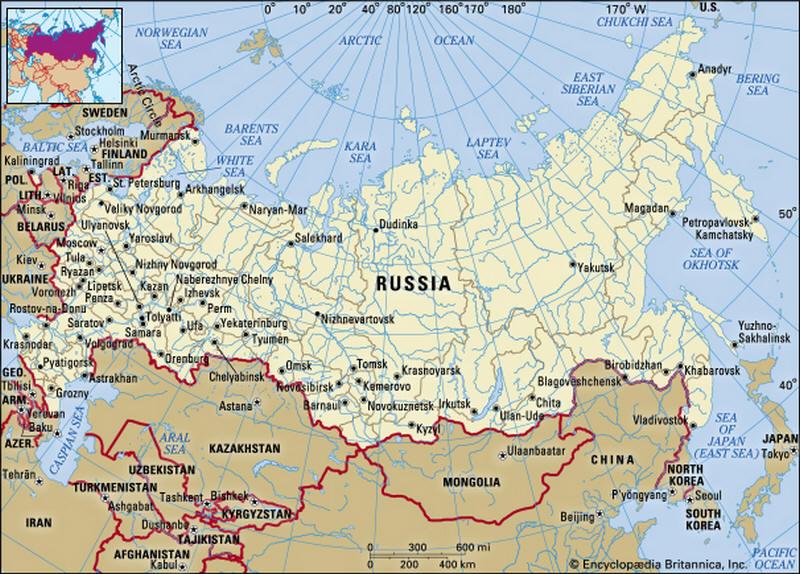 Cartina Politica Russia In Italiano.Cartina Geografica Della Russia Mappa Carta Mosca